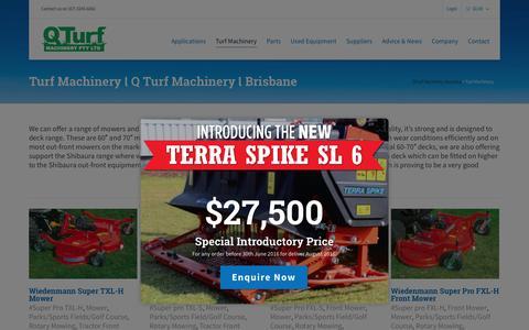 Screenshot of Products Page qturf.com.au - Turf Machinery Ɩ Q Turf Machinery Ɩ Brisbane - captured Oct. 19, 2016