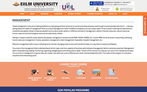 Screenshot of Team Page eiilmuniversity.ac.in - EIILM University   Offers popular and industry relevent online degree programs in management - captured Sept. 18, 2014