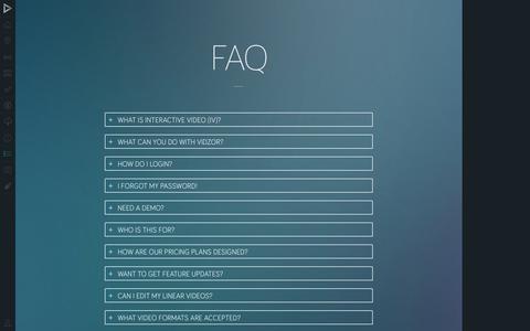 Screenshot of FAQ Page vidzor.com - Vidzor - captured Sept. 19, 2014