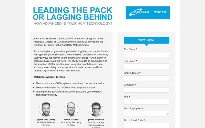 Leading the Pack or Lagging Behind. How Advanced is Your HCM Technology?