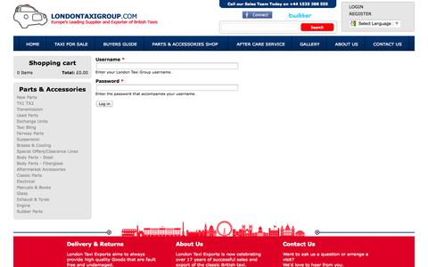 Screenshot of Login Page londontaxigroup.com - Home | London Taxi Group - captured Oct. 3, 2014