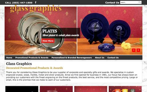 Screenshot of Home Page glassgraphics.com - Wholesale Corporate and Specialty Gifts and Awards - Glass Graphics - captured July 18, 2018
