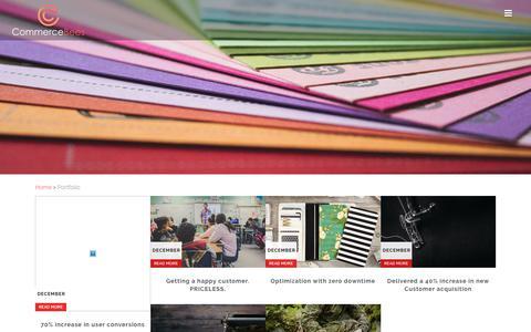 Screenshot of Case Studies Page commercebees.com - Portfolio : Commerce Bees - captured Dec. 24, 2017