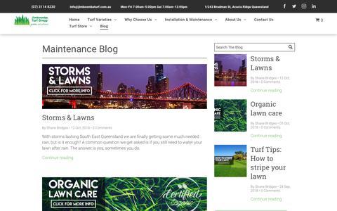Screenshot of Blog jimboombaturf.com.au - Brisbane grass supplier | Jimboomba Turf - captured Oct. 13, 2018
