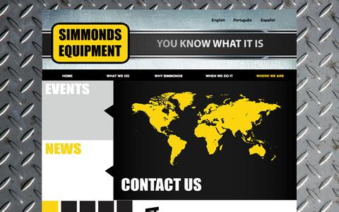Screenshot of Contact Page simmondsequipment.com - CONTACT US - captured Oct. 1, 2014