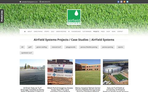 Screenshot of Case Studies Page airfieldsystems.com - AirField Systems Projects / Case Studies - AirField Systems - captured Sept. 30, 2014