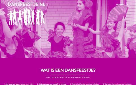 Screenshot of Home Page dansfeestje.nl - Dansfeestje.nl - captured Sept. 12, 2015