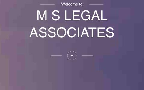 Screenshot of Home Page mslegal.in - M S Legal  Associates - Lawyers and Legal Consultants - captured Oct. 4, 2014
