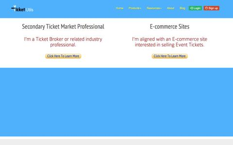 Screenshot of Signup Page ticketutils.com - TicketUtils :: Signup - captured March 10, 2017