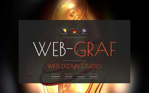 Screenshot of Home Page web-graf.net - Izrada web stranica | Održavanje web stranica | Grafički dizajn | Web studio - www.Web-Graf.net - captured Jan. 26, 2015