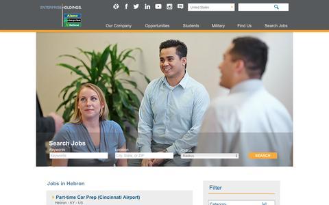 Screenshot of Jobs Page enterprise.com - Hebron Jobs at Enterprise Holdings - captured April 30, 2017