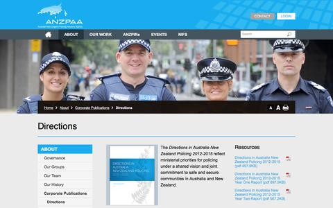 Screenshot of Maps & Directions Page anzpaa.org.au - Directions  - ANZPAA Website - captured Feb. 6, 2016