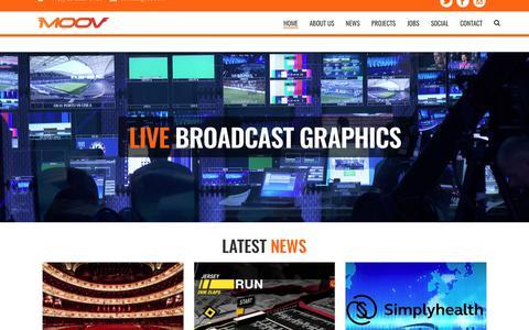 Screenshot of Home Page moov.tv - MOOV TV | Live Broadcast Graphics - MOOV TV - captured Oct. 2, 2017
