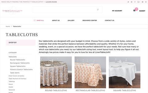 Tablecloths: Linen Tablecloth