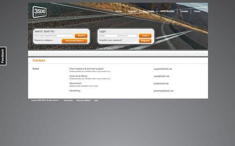 Screenshot of Contact Page 3six0.net - HDRI - 3SIX0, providing HDRI images - captured Oct. 9, 2014