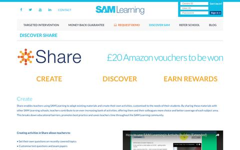 Discover Share - SAM Learning
