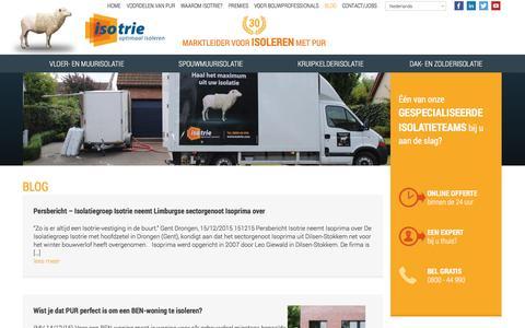 Screenshot of Blog isotrie.com - Blog | Isotrie - captured Dec. 21, 2015