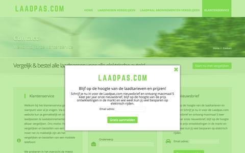 Screenshot of Contact Page laadpas.com - Contact - Laadpas.com | Vergelijk laadpassen & laadabonnementen | Overal laden in NL/BE/DE/FR/IT/EU | Publiek & Openbaar laden | Elektrisch Rijden: vergelijk tarieven - captured Sept. 26, 2018