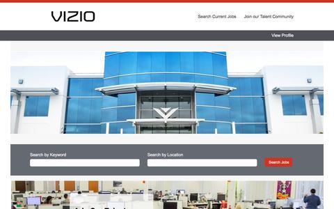 Screenshot of Jobs Page vizio.com - Careers at Vizio - captured March 18, 2018