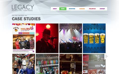 Screenshot of Case Studies Page legacymp.com - Case Studies | Legacy Marketing Partners - captured Oct. 2, 2014