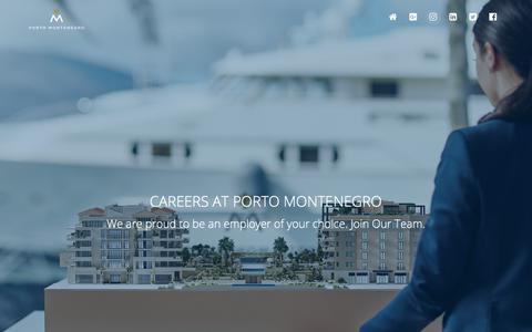 Screenshot of Jobs Page portomontenegro.com - Porto Montenegro  - Career Opportunities   TalentLyft - captured July 19, 2018