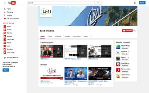 LMISolutions  - YouTube