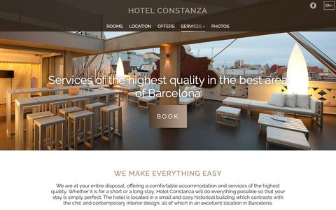 Screenshot of Services Page hotelconstanza.com - Services | Hotel Constanza | Barcelona | Official website - captured Oct. 29, 2018
