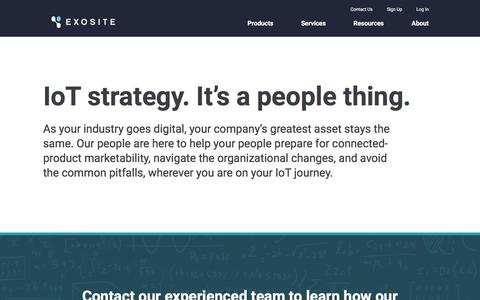 Screenshot of Services Page Support Page exosite.com - IoT Strategy: Consulting, Development, and Support Services - Exosite - captured Nov. 18, 2017