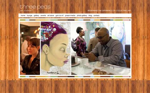 Screenshot of Home Page threepeasartlounge.com - Home � Three Peas Art Lounge� - captured Jan. 12, 2016