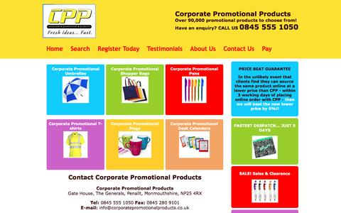 Screenshot of Contact Page corporatepromotionalproducts.co.uk - Contact Corporate Promotional Products - captured May 22, 2017