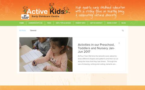 Screenshot of Blog activekids.co.nz - Blog | Active Kids - captured July 28, 2018