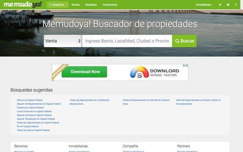 Screenshot of Home Page memudoya.com - MemudoYa!   Buscador de propiedades - captured Nov. 22, 2015