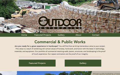 Screenshot of Home Page outdoor-enterprise.com - Outdoor Enterprise - captured Oct. 19, 2018