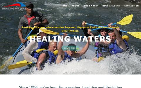 Screenshot of Home Page hwaters.org - Healing Waters - captured Oct. 2, 2014