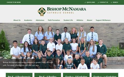 Screenshot of Home Page bishopmac.com - Home - Bishop McNamara Catholic School - captured Nov. 22, 2016