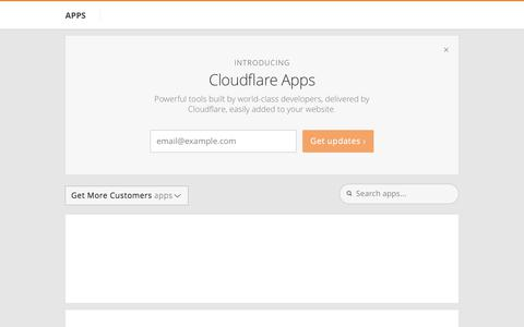 Get More Customers apps - Cloudflare Apps