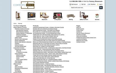 Screenshot of Site Map Page contempospace.com - Modern Furniture   Contemporary Furniture   Contempo Space - captured Sept. 19, 2014