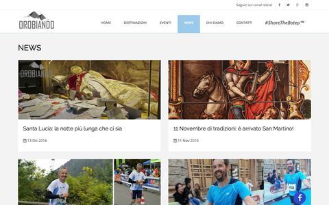 Screenshot of Press Page orobiando.com - News | Orobiando - captured May 10, 2017