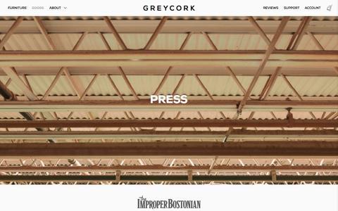 Screenshot of Press Page greycork.com - Press - Greycork - captured Nov. 5, 2014