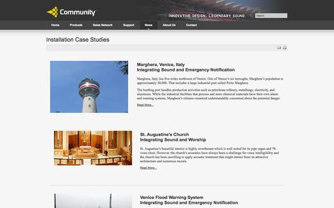 Screenshot of Case Studies Page communitypro.com - Installation Case Studies - captured Sept. 19, 2014