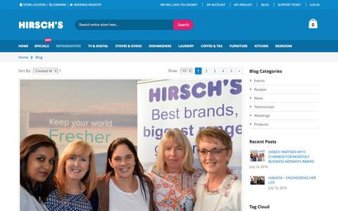 Screenshot of Blog hirschs.co.za - Blog | Your number one appliance store - captured July 15, 2016