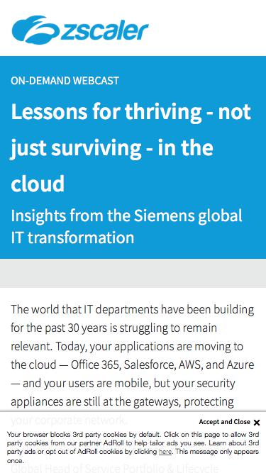 Lessons for thriving - not just surviving - in the cloud   Zscaler