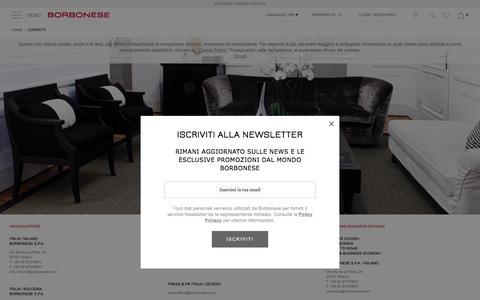 Screenshot of Contact Page borbonese.com - Contatti - captured Sept. 19, 2016