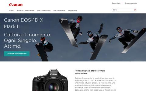 Screenshot of Home Page canon.it - Home - Canon Italia - captured Feb. 2, 2016