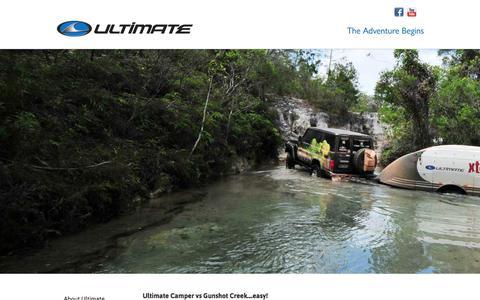 Screenshot of Press Page ultimateoffroadcampers.com.au - Ultimate Camper vs Gunshot Creek....easy! - Videos - Ultimate Off-Road Campers - Australia's Best Off-Road Camper Trailers - captured June 17, 2017