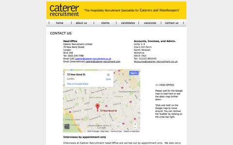 Screenshot of Contact Page caterer-recruitment.co.uk - Contact - Caterer Recruitment- contact - captured Oct. 2, 2014