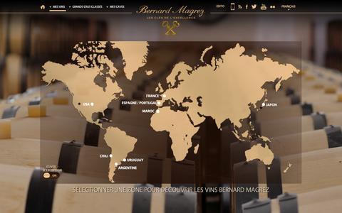 Screenshot of Maps & Directions Page bernard-magrez.com - Bernard Magrez - Propriétaire de grands crus classés à Bordeaux - captured Nov. 4, 2014