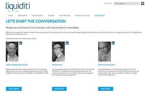 Screenshot of Contact Page liquiditi.co.uk - Let's start the conversation | Liquiditi - captured Sept. 30, 2014