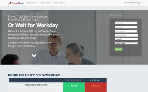 Screenshot of peoplefluent.com - PeopleFluent vs Workday - captured Sept. 18, 2017