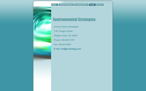 Screenshot of Contact Page envstrategy.com - Contact - Environmental Strategies - captured Oct. 2, 2014